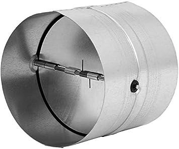 Conector de 125 mm de diámetro para tubo de ventilación, tubo de salida, canal de salida de aire – con válvula antirretorno – de acero galvanizado.: Amazon.es: Bricolaje y herramientas