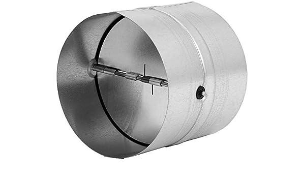 Conector de tubo de 150 mm de diámetro para tubo de ventilación, tubo de salida, canal de salida de aire – con válvula antirretorno – de acero galvanizado.: Amazon.es: Bricolaje y herramientas
