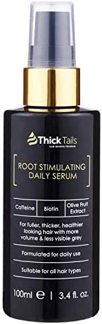 ThickTails Hair Growth Serum Oil - Anti Hair Loss Thickening Regrowth Treatment For Women With Thinning Hair And Breakage Due to Menopause Stress Postpartum Recovery. Best DHT Blocker. Biotin Caffeine
