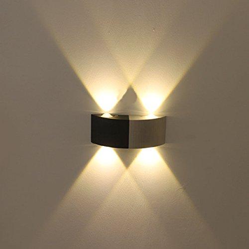 Weiß Light StiefelU LED Wandleuchte nach oben und unten Wandleuchten Led Aluminium Wandleuchten 4 W, weißes Licht