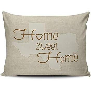 Amazon Com Xiuba Pillowcases Beige And Brown Texas Home