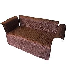 Sofa Furniture Protector Slipcover for Dog Pet Kids Waterproof Anti Skidding Loveseat (Loveseat, Coffee)