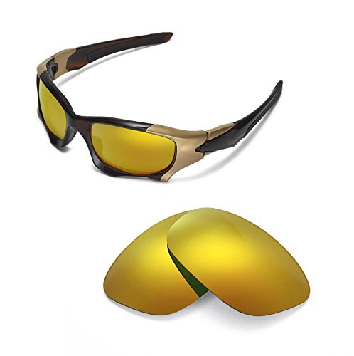 Walleva Replacement Lenses For Oakley PIT BOSS II Sunglasses - Multiple options available (24K Gold Mirror Coated - - Lenses Oakley Pit Boss
