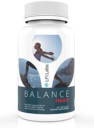 LFI Labs Heart Health Blood Pressure Supplement with Natural Herbs, B-Complex, Vitamin C, Folic Acid, More Balance Heart