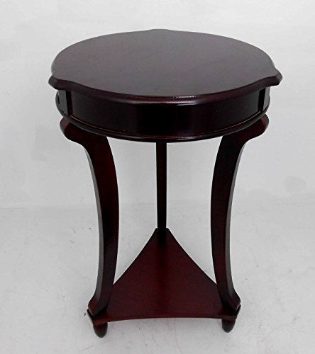 NF Brown Round accent tables / End, telephone, plant table / Home Decorative # 1763 by Nabil's Gift Shop