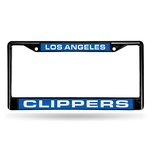 NBA Los Angeles Clippers Laser Cut Inlaid Standard Chrome License Plate Frame, ()