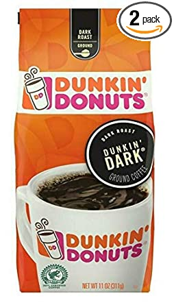 Amazon Com Dunkin Donuts Dunkin Dark Roast Ground Coffee Pack Of 2 Grocery Gourmet Food