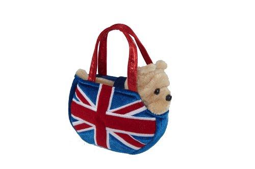 """8"""" Fancy Pal Bulldog In A Union Jack Bag"""