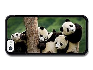 MMZ DIY PHONE CASEAdorable Cute Panda Bears Hugging On A Tree case for iphone 4/4s