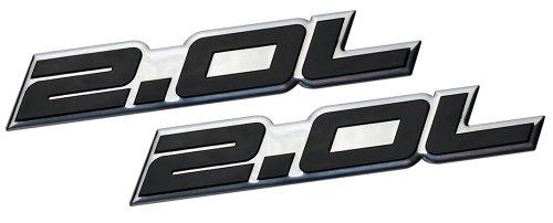 2 x (pair/Set) 2.0L Liter Embossed BLACK on Highly Polished Silver Real Aluminum Auto Emblem Badge Nameplate for Honda B20 B-20 Civic Si LX EX CRV CR-V Del Sol S2000 F20C Fit Prelude Acura Integra ILX RSX Nissan Sentra S SR SR20-DET RB20-DET 240SX 200SX Mazda 3 MX5 MX-5 Miata Sport 626 LX Grand Touring Protégé Mitsubishi Ralliart 4G63 4B11T Lancer EST GSR OZ EVO Evolution X Eclipse GS GST Spyder Eagle Talon Galant Mighty Max Outlander ES Sedan coupe 2 3 4 5 2dr 3dr 4dr 5dr door hatchback turbo turbocharged