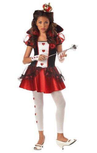 California Costumes Tween Queen Of Hearts Costume,Red/Black/White