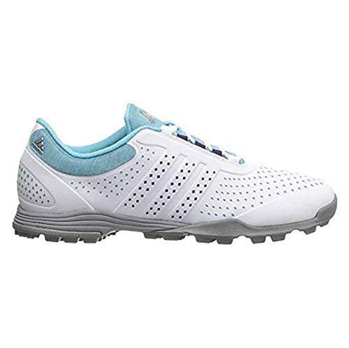 adidas Women's Adipure Sport Golf Shoe, Blue, 7 M US