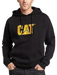 Caterpillar Men\'s Trademark Hooded Sweatshirt, Black, Large