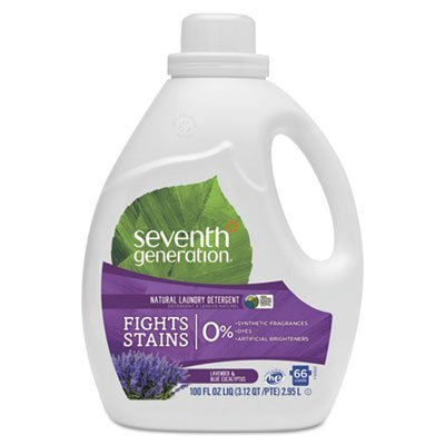 Seventh Generation Natural Liquid Laundry Detergent, Lavender & Blue Eucalyptus, 100oz Bottle
