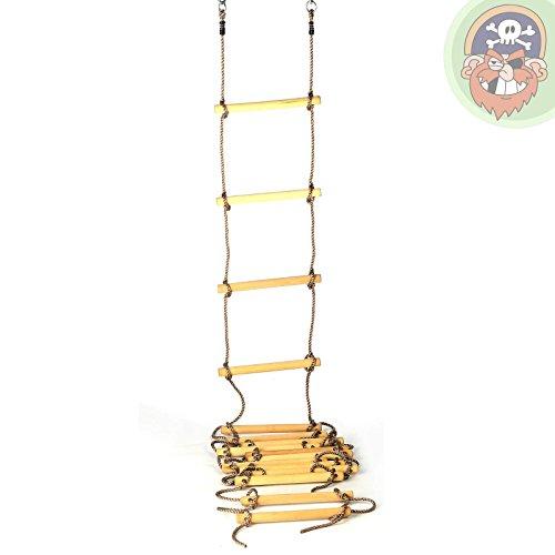 Échelle en corde pour enfants avec 16 marches en bois, longueur 560 cm - Jeu d'escalade de Gartenpirat®