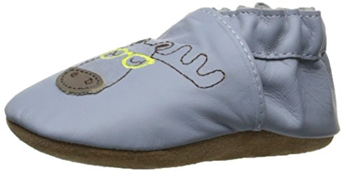 Robeez Boys' Elephant Eddie Crib Shoe, Moosed Handsome Blue, 2-3 yrs M US - Year Us 2