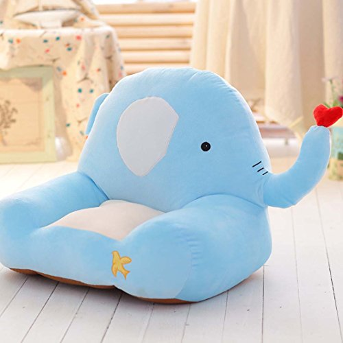 MAXYOYO Cute Dog/Elephant/Frog/Horse Colorful Stuffed Plush Toy Bean Bag Chair,Bear Sofa Seat for Children,Birthday Gift for Boys and Girls (elephant)