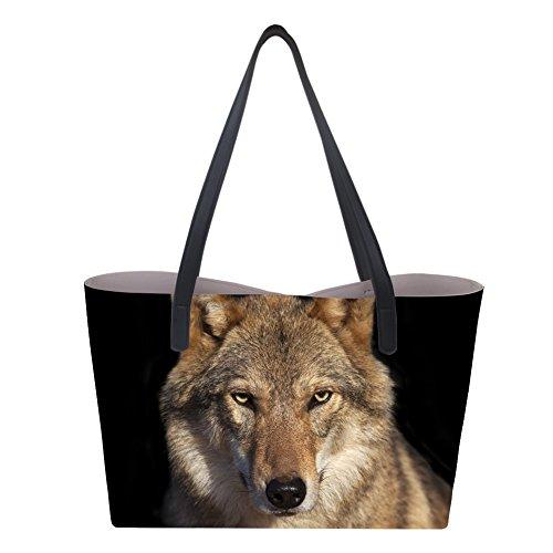 asas Showudesigns Bolso Wolf de Large 1 para mujer xxACPHwq