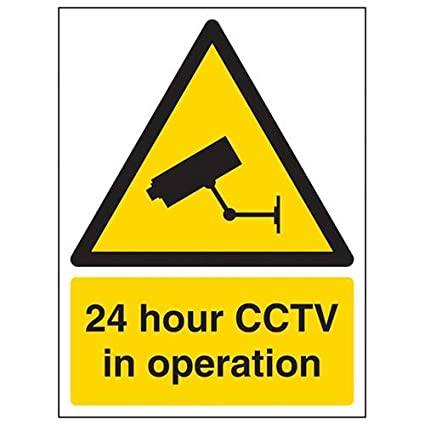 150mm x 200mm CCTV In Operation Sign VSafety Security Notice 1mm Rigid Plastic