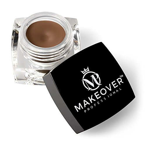 Eyebrow Pomade, by Makeover Professional - Premium Makeup to Create Your Desired Look - 0.14 Ounce (4.0g) (Soft Brown)