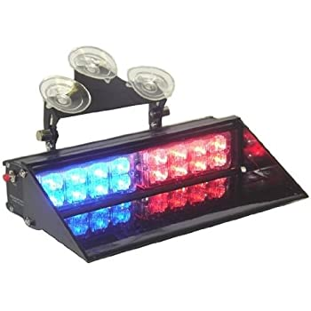 Amazon ap dash mount led police light bar redblue 15 modes ap dash mount led police light bar redblue 15 modes super bright emergency aloadofball Image collections