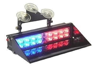 Amazon ap dash mount led police light bar redblue 15 modes ap dash mount led police light bar redblue 15 modes super bright emergency aloadofball Choice Image