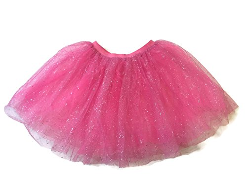 [Rush Dance Ballerina Girls Dress-Up Sparkling Glitter Costume Recital Tutu (One Size, Special Pink)] (Sweet Bee Girls Costumes)