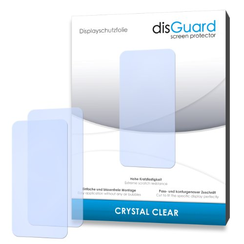 disGuard RY031601 Lot de 2 Films de protection d'écran pour Apple iPhone (Transparente Rigide avec revêtement)