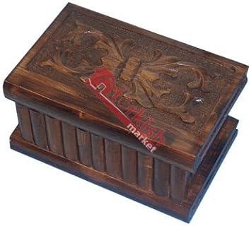 Turco caja de Puzzle, Magic caja – Joyero – caja secreta – Puzzle de madera caja – regalo de Navidad: Amazon.es: Hogar