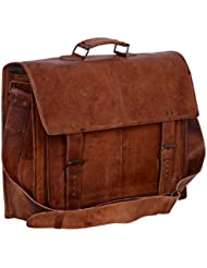 Komals Passion Leather 16 Sturdy Messenger Bag for Laptop (Fits 14 / 15.6)