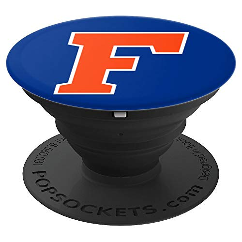 (Letter F - Gainesville Florida Gator Pride Fan Gift - PopSockets Grip and Stand for Phones and)