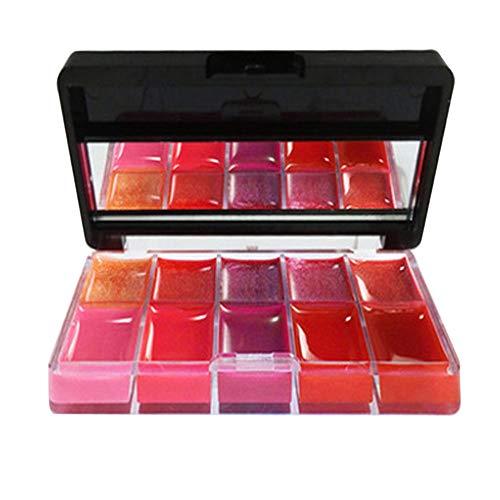Ourhomer  Clearance Sale Long Lasting Lipsticks 10 Colors Beauty Make Up Lipsticks Moisturizer Lip Gloss Cosmetic Set (Black)