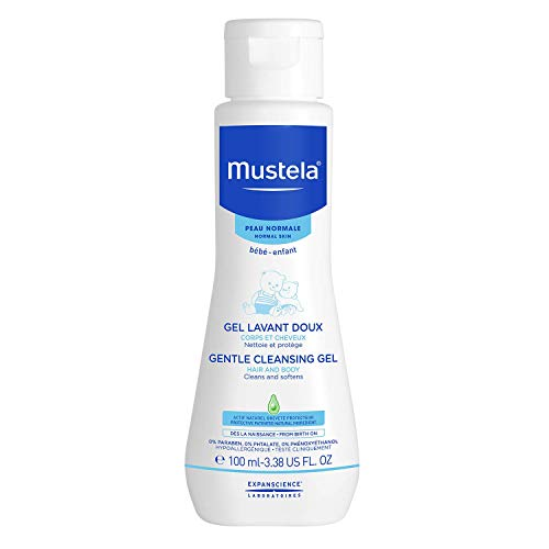 Mustela Gentle Cleansing Gel - Baby Hair & Body Wash - Tear Free - with Natural Avocado fortified with Vitamin B5 - Various Sizes