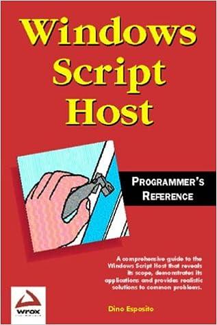 Windows script host programmers reference dino esposito windows script host programmers reference dino esposito 9781861002655 amazon books ccuart Choice Image