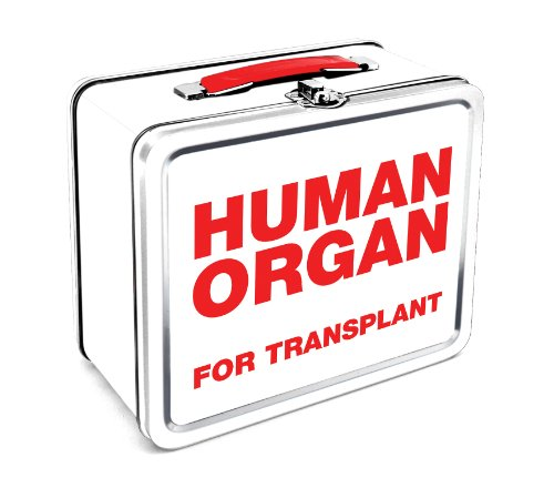 Human Organ Carrier Tin Lunchbox