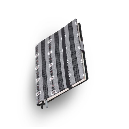 Whitebook Collection F003-ML, modulares Notizbuch, Edelweiss grau, Baumwolle, 240 S. Papier FSC (iPad Mini & Samsung Tab 8