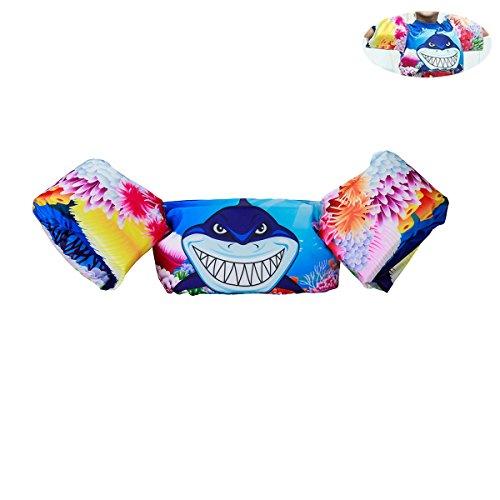 Elejolie Kids ,Learn to Swim Life Jacket,Swim Aid Floater Life Vests (22-66 bl) (Shark) (Life Swim)