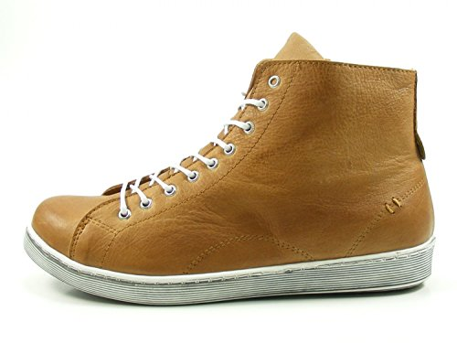 Andrea Conti 0341500 Scarpe Sneakers Basse A Tacco Alto Marrone