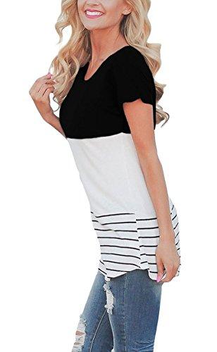 A Donna Hibluco T Righe Black shirt Raxw7qW4xE