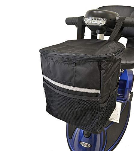 AlveyTech Soft Basket Tiller Bag for Mobility Scooters ()