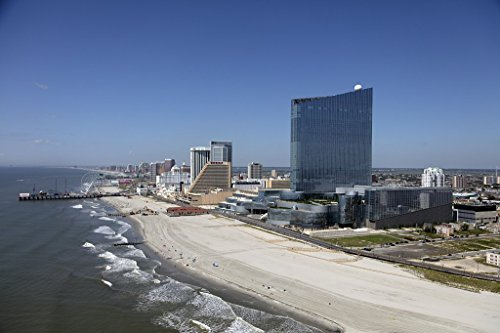 Photograph | Atlantic City, New Jersey with the Casino Revel in the foreground| Fine Art Photo Reporduction 36in x 24in ()