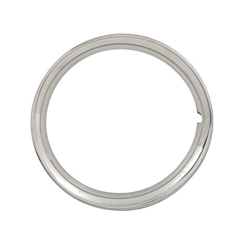 MACs Auto Parts 49-24956 Trim Ring - Polished Stainless Steel - For 15 Wheels - FordOnly by MACs Auto Parts