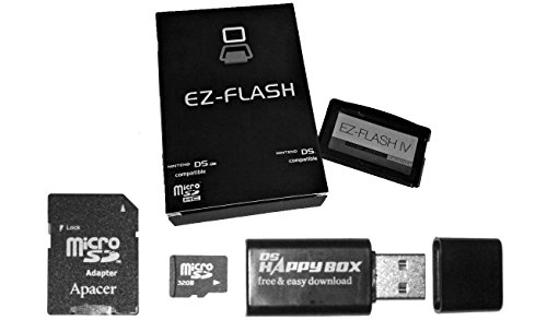 mentalKase EZFlash IV EZ4 Cartridge 32Gb BUNDLE! 32Gb SD CARD INCLUDED! Newest v1.77 BIOS! Micro SD Card Adapter for Gameboy Advance Flash Cart GBA SP NDS NDSL (EZ-FLASH IV 4) by mentalKase®