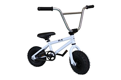 Check Out This R4 White Complete Rocker Pro Mini Bmx Bicycle Trick Jump Freestyle With Pegs, USA