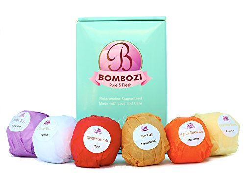 Bath Bombs Gift Set - Bombozi |Lush Essential Oils Bubble Bath Bomb With Shea Butter - Skin Moisturizer |Birthday Gifts For Women, Men, Kids, Wife, Mom| 6 x 2.5 oz (Best Homemade Bubble Bath)