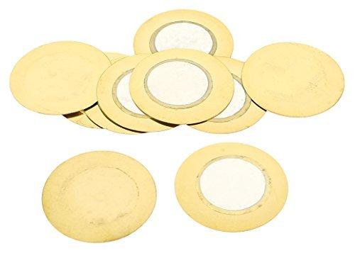eDealMax a14042800ux0504 10 Pieza de componentes electr/ónicos 27 mm piezoel/éctrico Copper zumbador Film Gasket