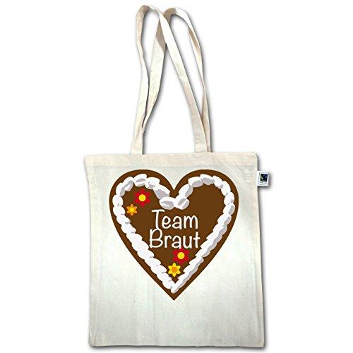 Jga Hen Party - Gingerbread Heart Team Bride - Unisize - Natural - Xt600 - Manico Lungo In Juta
