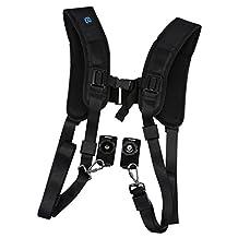 MonkeyJack Universal Quick Rapid Double Shoulder Harness Soft Pad Shoulder Strap Belt for DSLR SLR Camera