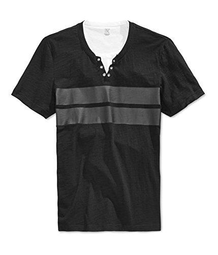 I-N-C Mens Gilman Double Layer Graphic T-Shirt deepblack S