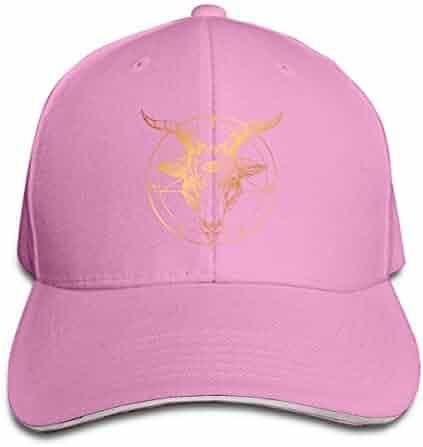Baseball Cap Adult Baphomet Satanic Goat Head with Third Eye Sandwich Cap  Dad Casquette Hat Cap 0e1da55b986a